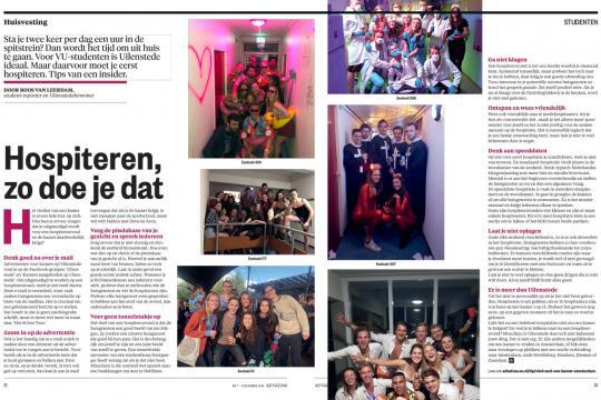 hospiteren in Ad Valvas magazine